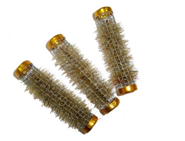 Borsten-Metallwickler gold 13 mm 12 Stück