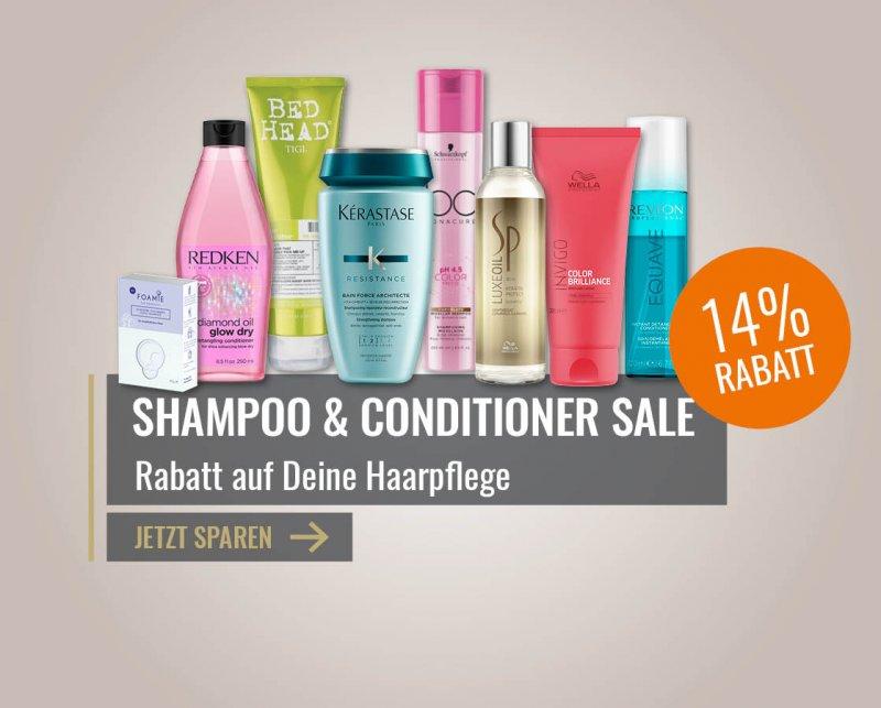 14% Rabatt auf Shampoo & Conditoner