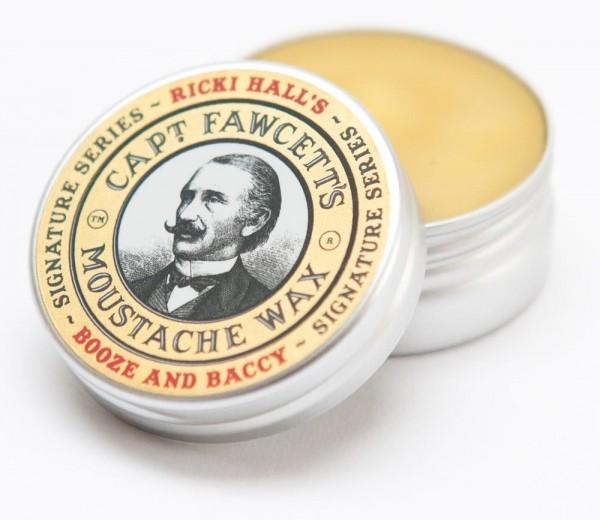 Ricki Hall Booze & Baccy Moustache Wax 15ml