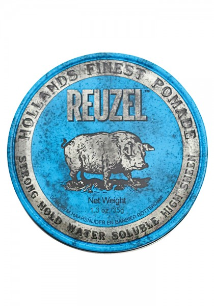 Reuzel Pomade Blue Strong Hold Water Soulable High Sheen, 35 g