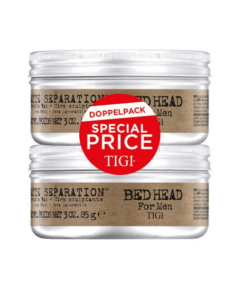 BED HEAD for Men Matte Separation Workable Wax Doppelpack