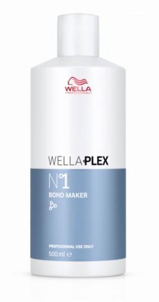 Wellaplex No 1 Bond Maker hilft, während des Aufhellungs- oder Färbeprozesses Haarverbindungen wiederherzustellen.