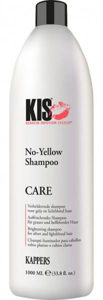 Kis No-Yellow Shampoo + Pumpe 1L