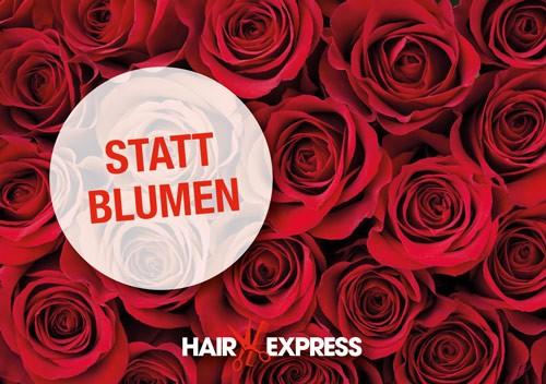 HairExpress Gutschein Trägerkarte Muttertag