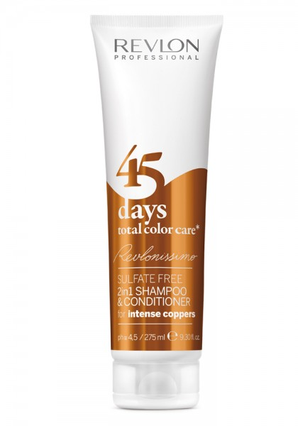 Revlon Revlonissimo 45 Days 2in1 Shampoo Intense Coppers, 275 ml