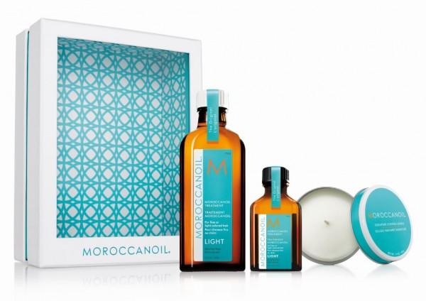 Moroccanoil Home & Away Kit light inkl. Kerze