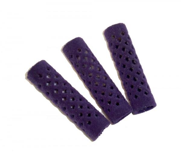 Metallwickler beflockt violett 15 mm 12 Stück