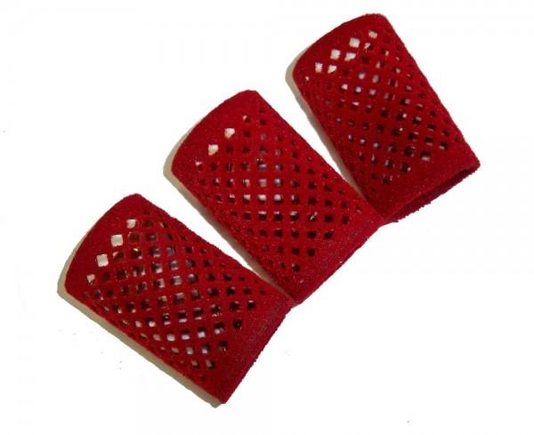 Metallwickler beflockt rot 40 mm 12 Stück