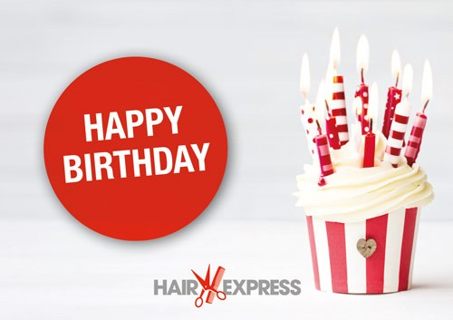 HairExpress Gutschein Trägerkarte Geburtstag