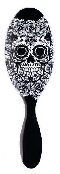 Wet Brush Sugar Skull White Rose