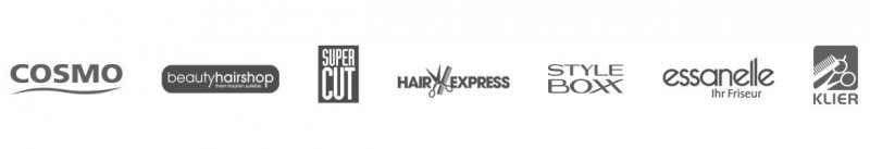 Klier-Hair-Group-Salons-Logos-der-Salonkonzepte-Klier-essanelle-Super-Cut-Hairexpress-COSMO-beautyhairshop