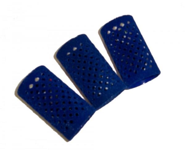 Metallwickler beflockt blau 36 mm 12 Stück