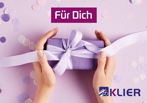 """Frisör Klier Gutschein Trägerkarte neutral """"Für Dich"""""""