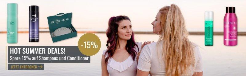 15% auf Shampoo und Conditioner