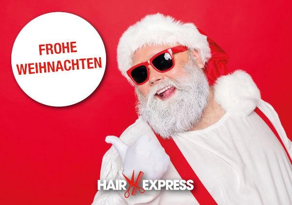 HairExpress Gutschein Trägerkarte Weihnachten