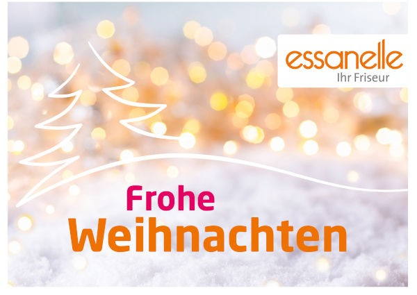 Essanelle Gutschein Trägerkarte Weihnachten